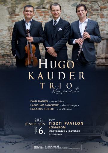 Hugo Kauder Trio koncert 2021 poster Komarom